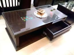 glass top coffee table with storage center table with storage glass top center table with storage center