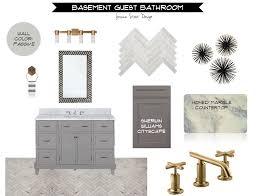 jessica stout design gray gold bathroom design board gold