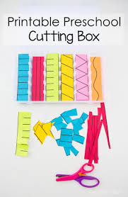 printable preschool cutting busy box fun with mama