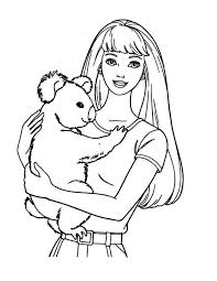barbie coloring pages bear embroidery barbie