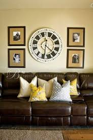 Wall Clock For Living Room by Love This Wall Clock And She Has A Great Tutorial For The Picture