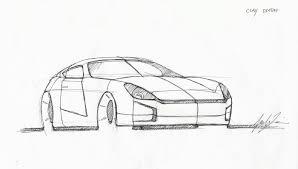 nissan 350z drawing transportation design by julie kim at coroflot com