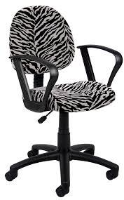 zebra desk chair boss zebra print microfiber deluxe posture chair w loop arms