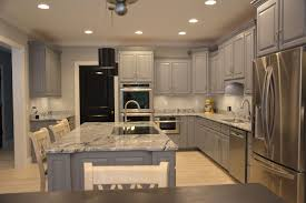 Kitchen Interior Doors Kitchen Grey Cabinets Viscon White Granite And Black Interior