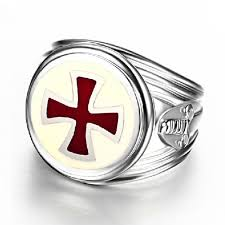 red silver rings images Red cross white gold plated 925 sterling silver ring men 39 s rings jpg