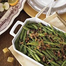 soy glazed green beans with crispy shallots new today