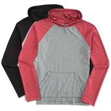 custom district raglan hooded long sleeve t shirt design long