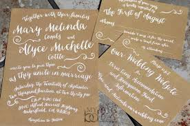Fun Wedding Invitations Trendy Typography Wedding Invitation Suite With Kraft Paper