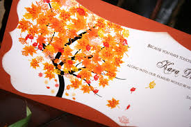 Wedding Invitations With Free Rsvp Cards How To Create Free Fall Wedding Invitations