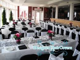 Black And White Chair Covers Black Chair Covers For Weddings And Events Add Some Glam