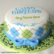 another birthday cake image for boyfriend with name on it make a
