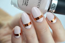 simple nail art featuring chrome striping tape furious filer