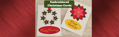 embroidered christmas embroidered christmas cards northwest sewing center