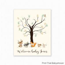 baby shower fingerprint tree baby shower fingerprint guest book woodland baby shower