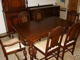 vintage dining room sets vintage oak dining table and chairs 3673