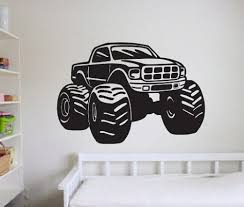 monster truck vinyl wall decal sticker large farm kids bedroom