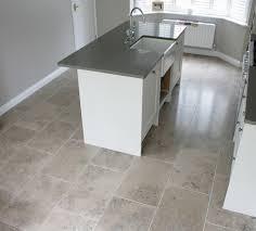 floor tile ideas for kitchen small kitchen with grey limestone floor tiles flooring ideas