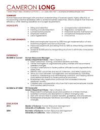 hr resume templates best human resources manager resume exle livecareer