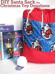 diy santa sack for christmas toy donations crafts sewing