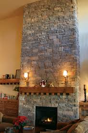 astounding stacked stone fireplace diy images decoration