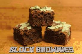 minecraft cuisine minecraft block brownies 13 steps
