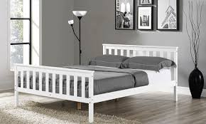 Wooden White Bed Frames Wooden Bed Frame Mattress Groupon Goods