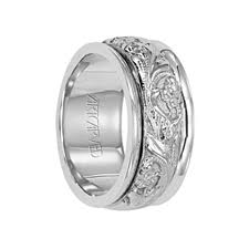 palladium wedding ring artcarved rings durwin palladium wedding band with floral