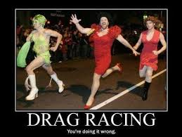 Drag Racing Meme - insane drag racer does accidental 155mph donut mid race