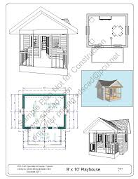playhouse floor plans free playhouse plans blueprints construction drawings pdf download