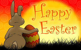 easter eggs bunnies and easter greeting cards