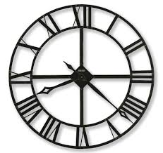 contemporary black metal wall clock