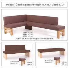 Esszimmerbank Mit Lehne Braun Sitzbank Flavio Mit Lehne 130cm 150cm Gestell