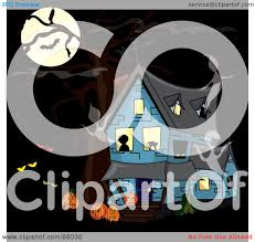 haunted house clipart free royalty free rf clipart illustration of a blue haunted house