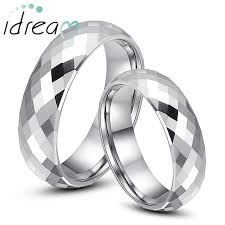 Mens Tungsten Wedding Rings by Domed Faceted Tungsten Wedding Bands Set For Women And Men