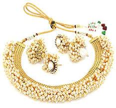 necklace pearl set images Buy youbella gold plated jewellery set for women golden jpg