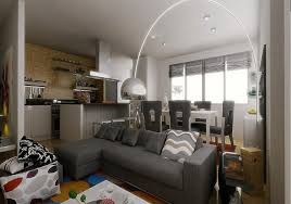 Grey Livingroom Dark Grey Living Room Large Window Blue Rug White Fireplace Tile