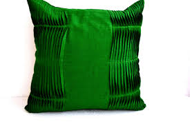 emerald green pillow cover cotton throw pillow cover accent