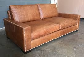 Chestnut Leather Sofa Braxton Leather Sofa In Italian Berkshire Chestnut With Nail