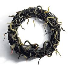 animated snake wreath the green head