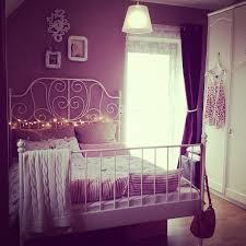 Dark Pink Bedroom - dark pink walls with cast iron ikea bed bedrooms furniturenear