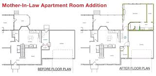 in law additions floor plans plans home addition floor plans