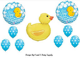rubber duckie baby shower it s a boy rubber ducky baby shower balloons