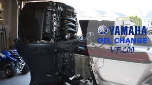 how to change the oil yamaha vmax sho four stroke outboard youtube