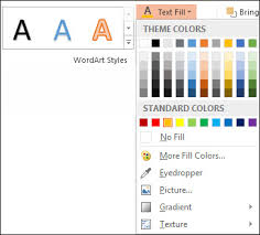 change the colors in a text box or shape office support