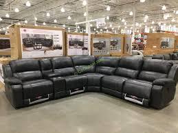 Costco Sofa Leather Pulaski Furniture Leather Power Reclining Sectional Costcochaser