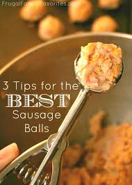 3 tips for easy sausage balls