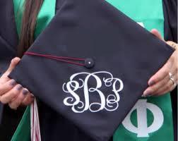 monogram graduation cap graduation monogram decal class of 2017 class of 2018 class