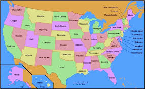 map usa states 50 states with cities us state us states united states capitals quiz