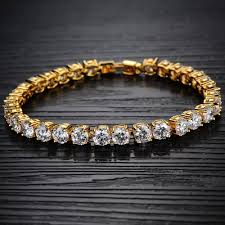 gold plated tennis bracelet images Opk luxury wedding bridal jewelry women 39 s zircon crystal bracelet jpg