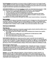 the industrial revolution reading summary and questions by